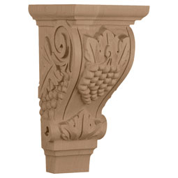 "4 3/4""W x 5""D x 9 1/2""H, Medium Grape Corbel"
