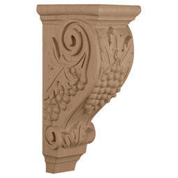 "5""W x 7 1/2""D x 14""H, Large Grape Corbel"