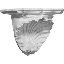 "10 3/8""W x 6""D x 7 3/8""H Shell Decorative Shelf"