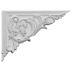 "8 5/8""W x 6 1/4""H x 5/8""D Flower Stair Bracket, Right"