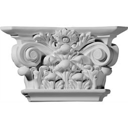"10 1/2""W x 6 1/8""H x 3""D Acanthus Leaf Capital (Fits Pilasters up to 6 3/4""W x 5/8""D)"