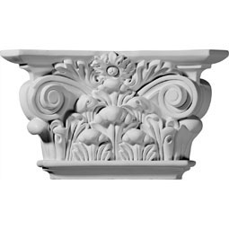 "12 1/4""W x 6 7/8""H x 3 1/2""D Acanthus Leaf Capital (Fits Pilasters up to 6 5/8""W x 1 1/8""D)"