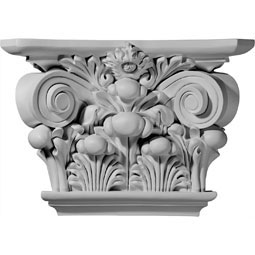 "17 1/2""W x 11 7/8""H x 5 1/4""D Acanthus Leaf Capital (Fits Pilasters up to 9 5/8""W x 2""D)"