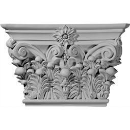 "24 1/8""W x 15 7/8""H x 6 3/4""D Acanthus Leaf Capital (Fits Pilasters up to 11 3/4""W x 2""D)"