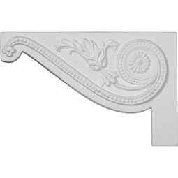 "11""W x 7""H x 5/8""D Large Pearl Stair Bracket, Left"