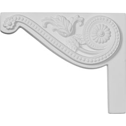 "8""W x 6 1/2""H x 3/4""D Pearl Stair Bracket, Left"