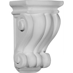 "3 1/8""W x 3""D x 5 1/4""H Traditional Cole Pilaster Corbel"