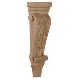 "4 3/4""W x 1 3/4""D x 10""H, Small Acanthus Pilaster Corbel"