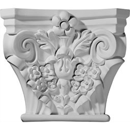 "11 5/8""W x 7 3/8""D x 10""H Anthony Capital (Fits Pilasters up to 7""W x 3/8""D)"