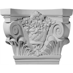 "21 5/8""W x 7 1/2""D x 16 3/4""H Sussex Capital (Fits Pilasters up to 12 1/2""W x 1 1/8""D)"