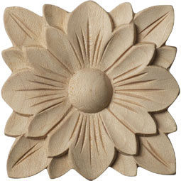 2 3/4&quot;W x 2 3/4&quot;H x 1/4&quot;P Springtime Rosette