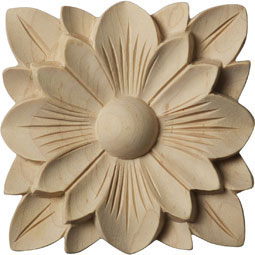 3 1/2&quot;W x 3 1/2&quot;H x 1/2&quot;P Springtime Rosette