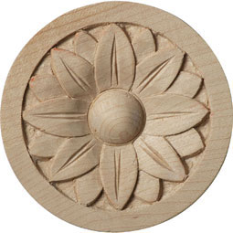 2 3/4&quot;W x 2 3/4&quot;H x 1/4&quot;P Bedford Rosette