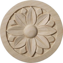 3 1/2&quot;W x 3 1/2&quot;H x 1/2&quot;P Bedford Rosette