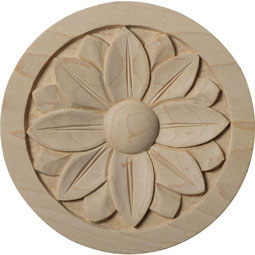 5&quot;W x 5&quot;H x 3/4&quot;P Bedford Rosette