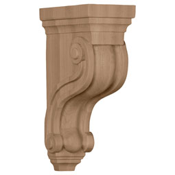 "3 3/8""W x 6 1/2""D x 10 1/2""H Boston Traditional Scroll Corbel"