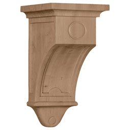 "5""W x 5""D x 9""H Arts and Crafts Corbel"