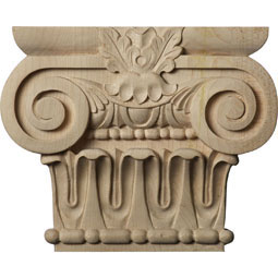"7""W x 3 7/8""BW x 2""D x 5 5/8""H Small Bradford Roman Ionic Capital (Fits Pilasters up to 3 7/8""W x 1""D)"