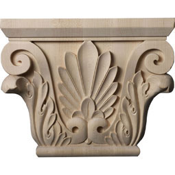 "11""W x 6 3/4""BW x 3 7/8""D x 8 7/8""H Large Chesterfield Capital (Fits Pilasters up to 6 1/4""W x 2""D)"