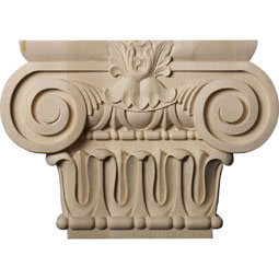 "12 7/8""W x 6 1/4""BW x 2 5/8""D x 9 1/8""H Large Bradford Roman Ionic Capital (Fits Pilasters up to 6 1/4""W x 2""D)"