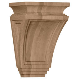 "6""W x 4""D x 9""H Arts and Crafts Corbel"