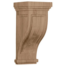 7 1/2&quot;W x 8&quot;D x 17&quot;H Charleston Mission Corbel