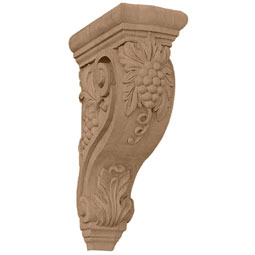 "4 1/4""W x 8""D x 13 1/4""H Devon Grapes & Vines Corbel"