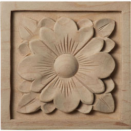 3 1/2&quot;W x 3 1/2&quot;H x 1/2&quot;D Medium Dogwood Flower Rosette