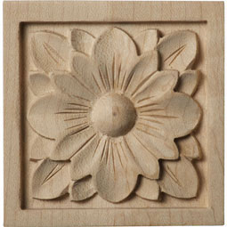 "3""W x 3""H x 5/8""D Small Dogwood Flower Rosette"