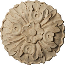 4 1/2&quot;W x 4 1/2&quot;H x 5/8&quot;D, Small Kent Floral Rosette