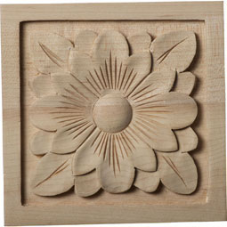 5 1/8&quot;W x 5 1/8&quot;H x 1&quot;D Large Dogwood Flower Rosette