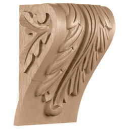 "5 1/4""W x 4 1/2""D x 7 1/3""H, Small Block Acanthus Leaf Corbel"