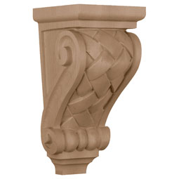 "5""W x 5 1/4""D x 10 1/2""H, Medium Basket Weave Corbel"