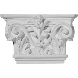 "8 5/8""W x 5 1/2""H Acanthus Leaf Capital (Fits Pilasters up to 5 1/4""W x 3/4""D)"