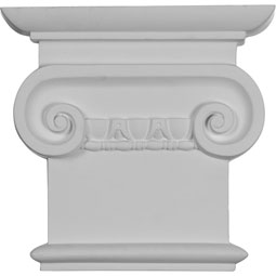 "8 1/4""W x 7 7/8""H Classic Ionic Capital (Fits Pilasters up to 5 1/4""W x 5/8""D)"