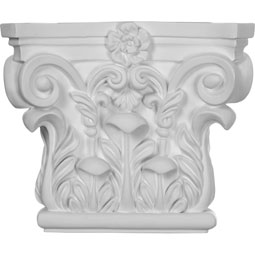 "8 5/8""W x 7 1/4""H Corinthian Capital (Fits Pilasters up to 5 1/4""W x 5/8""D)"