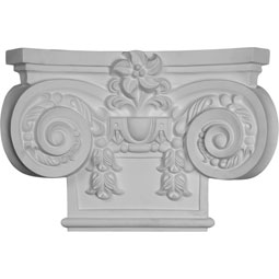 "19 5/8""W x 13 3/8""H Large Empire Capital with Necking (Fits Pilasters up to 10 3/4""W x 7/8""D)"