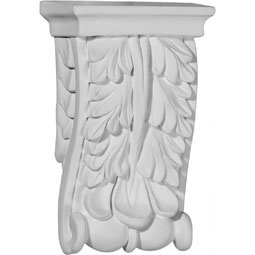 "3 1/8""W  x 1 1/2""D x 5 1/8""H Oxford Oak Leaf Corbel"