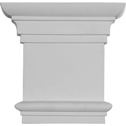 "8 1/4""W x 7 7/8""H Traditional Capital (Fits Pilasters up to 5 1/4""W x 5/8""D)"
