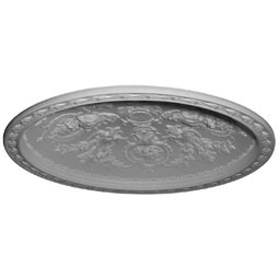 "57 1/8""OD x 49 5/8""ID x 8 3/8""D, Vaduz Ceiling Dome, 3 3/4""W Trim (50""Diameter x 9""D Rough Opening)"