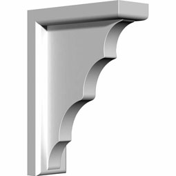 "3""W x 7 5/8""D x 10 5/8""H Traditional Bracket"