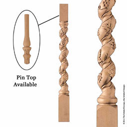 "3 1/2""W x 38""H Baluster Grape Large"