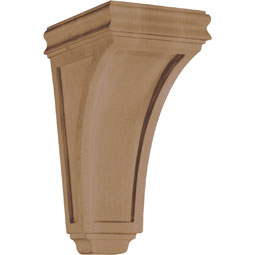 "3 1/2""W x 6 5/8""H x 3 7/8""D Corbel American Arts and Crafts Concave Mini"