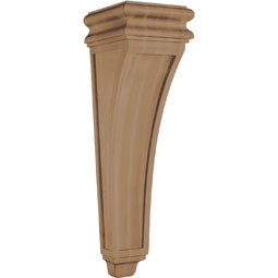 "9 3/4""W x 34""H x 11""D Corbel American Arts and Crafts Concave Extra Large"