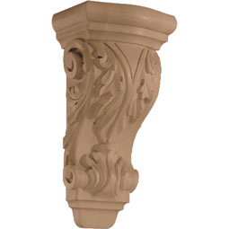"4 3/4""W x 9 1/2""H x 3 3/4""D Corbel Acanthus Small"