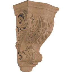 "8 1/8""W x 14""H x 6 1/4""D Corbel Acanthus Wide Medium"
