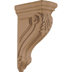 "3""W x 9 1/2""H x 6 1/8""D Corbel Grape Narrow Small"
