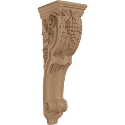"7 5/8""W x 26 1/2""H x 8 3/4""D Corbel Grape Large"