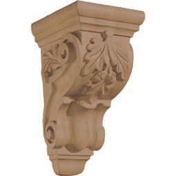 "4 3/4""W x 9 1/2""H x 5 3/4""D Corbel Oak Leaf Small"