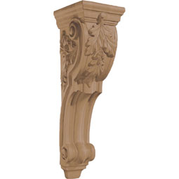 "7 5/8""W x 26 1/2""H x 8 3/4""D Corbel Oak Leaf Large"